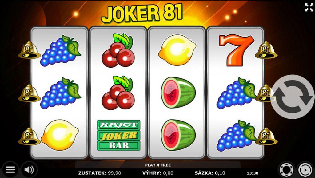 Joker 81 mobilní casina