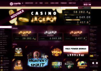 Vyhrajte až půlmiliónový jackpot v Synottip Casinu