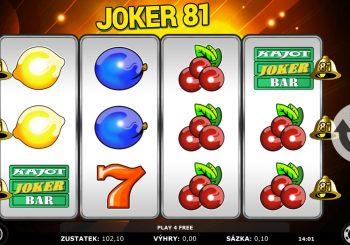 Joker 81 automat zdarma