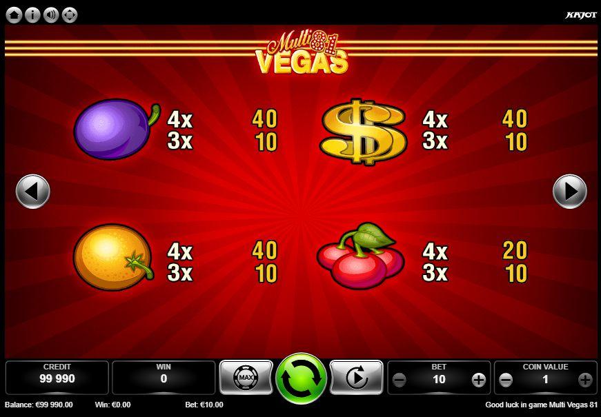Multi Vegas 81 výplaty