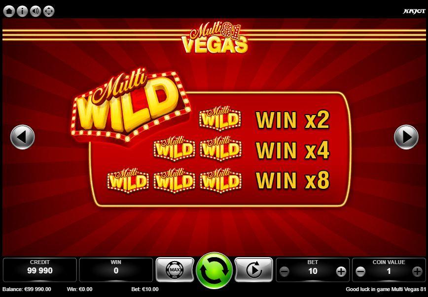 Multi Vegas 81 bonusy