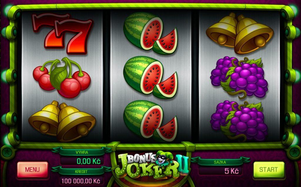Nejhranější automaty Fortuna Bonus Joker 2