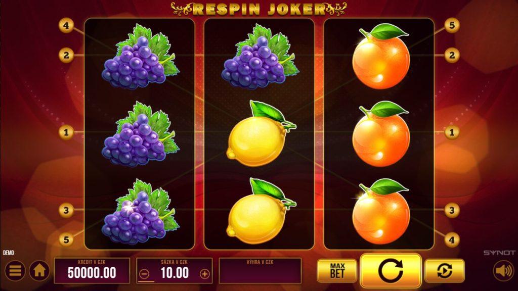 Nejhranější automaty Fortuna Respin Joker